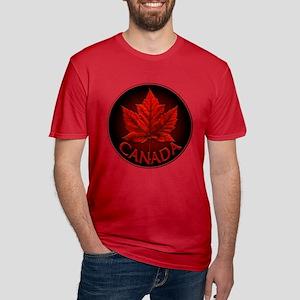 Canada Maple Leaf Souv Men's Fitted T-Shirt (dark)