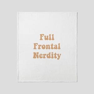 Full Frontal Nerdity Throw Blanket