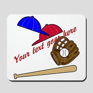 Personalized Baseball Gear Mousepad
