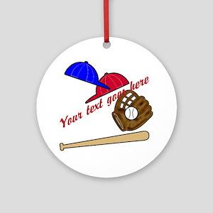 Personalized Baseball Gear Ornament (Round)
