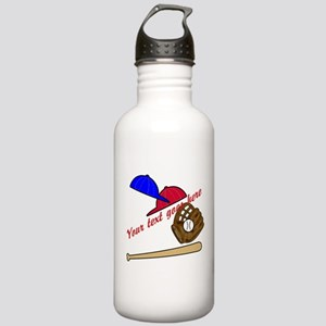 Personalized Baseball Gear Stainless Water Bottle