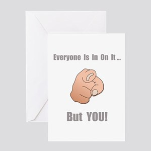 In On It! Greeting Card