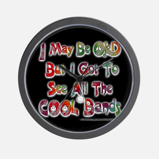 ALL the COOL Bands!- Wall Clock