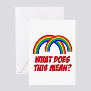 Double rainbow oh my god ornament507000400 greeting cards cafepress double rainbow what does this mean greeting card m4hsunfo
