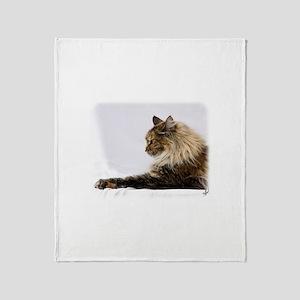 Maine Coon Cat 9Y825D-103 Throw Blanket