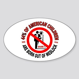MO MORALS LEFT Sticker (Oval)