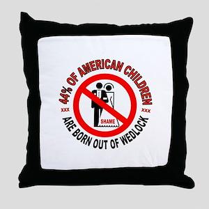 MO MORALS LEFT Throw Pillow