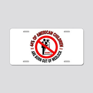 MO MORALS LEFT Aluminum License Plate