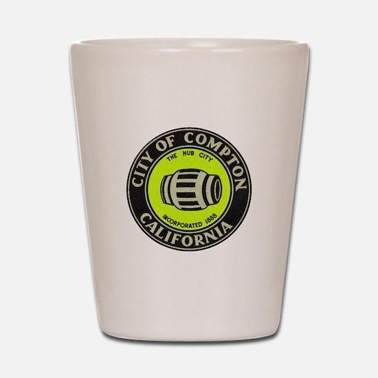 Compton City Seal Shot Glass