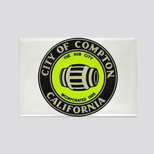 Compton City Seal Rectangle Magnet