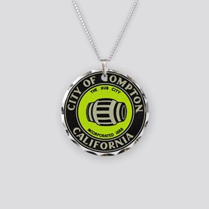 Compton City Seal Necklace Circle Charm