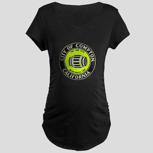 Compton City Seal Maternity Dark T-Shirt