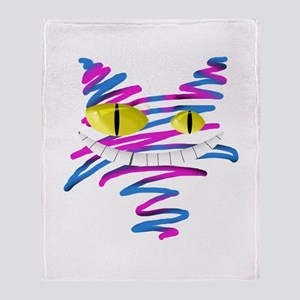 Silly Cheshire Cat Throw Blanket