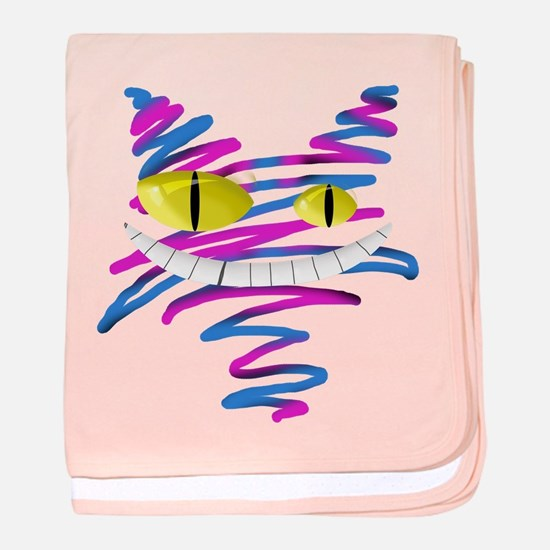 Silly Cheshire Cat baby blanket