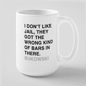 bukowski quote Large Mug