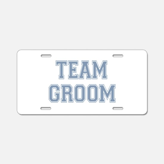 Team Groon Aluminum License Plate