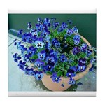 Blue Pansy Tile Coaster