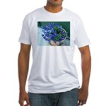 Pansies and Peonies Flowers Fitted T-Shirt