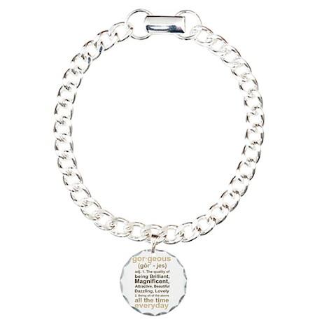 Gorgeous Gold Charm Bracelet, One Charm