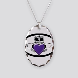Cystic Fibrosis Research Necklace Oval Charm
