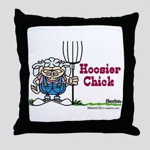 Hoosier Chick Throw Pillow