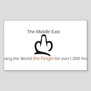Giving the Finger Rectangle Sticker