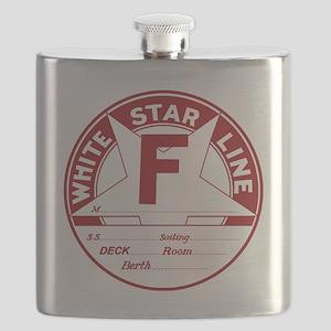 White Star Line Luggage Tag- No Name Flask