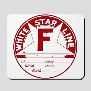 White Star Line Luggage Tag- No Name Mousepad