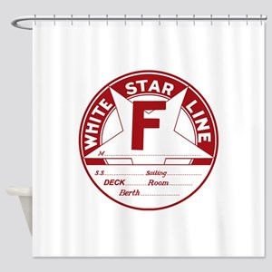 White Star Line Luggage Tag- No Nam Shower Curtain