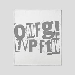 Ghost Hunting EVP Throw Blanket