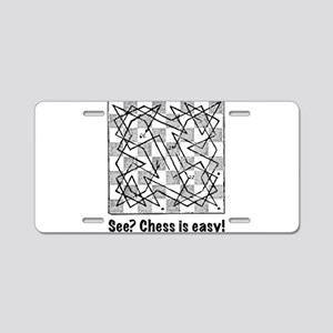 Chess is Easy! Aluminum License Plate