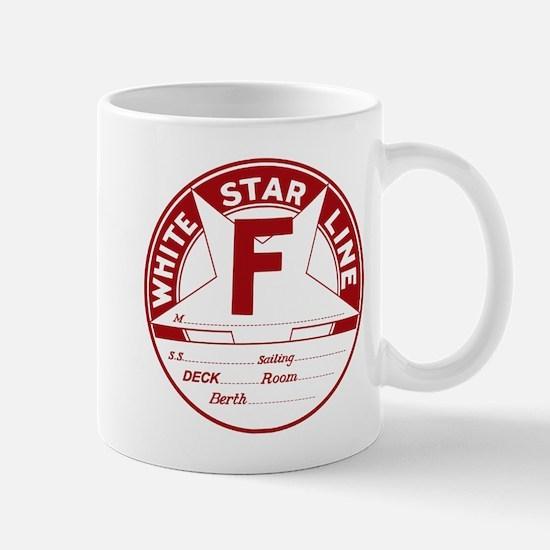 White Star Line Luggage Tag- No Name Mugs