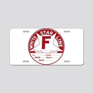 White Star Line Luggage Tag Aluminum License Plate