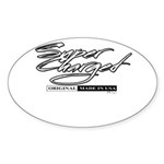 Supercharged Sticker (Oval 50 pk)