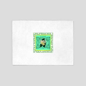 OYOOS Let It Rain: Flower design 5'x7'Area Rug