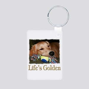 Life's Golden Aluminum Photo Keychain