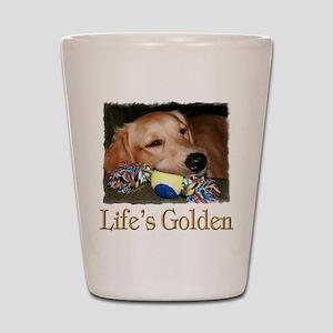 Life's Golden Shot Glass