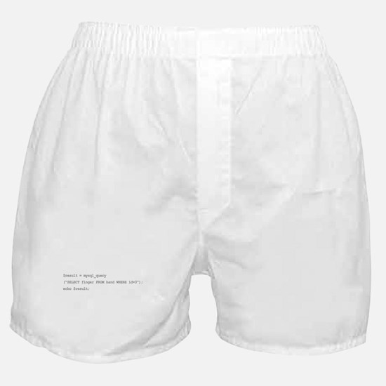The sql middle finger Boxer Shorts