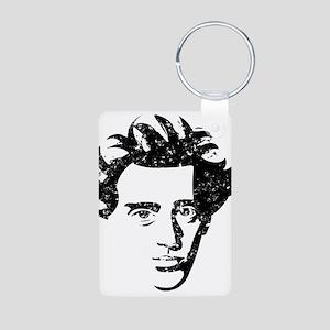 Søren Aabye Kierkegaard Aluminum Photo Keychain