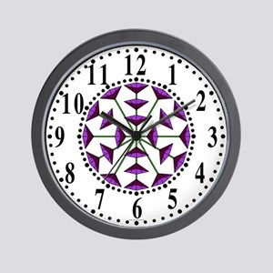 Eclectic Flower 198 Wall Clock