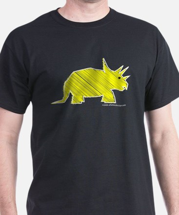 When Triceratops Ruled! Black T-Shirt