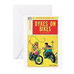 "Greeting (10)-""Dykes On Bikes"""