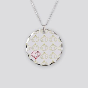 Garlic, please. Necklace Circle Charm