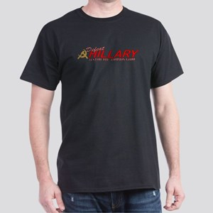 Defeat Hillary 2008 Black T-Shirt