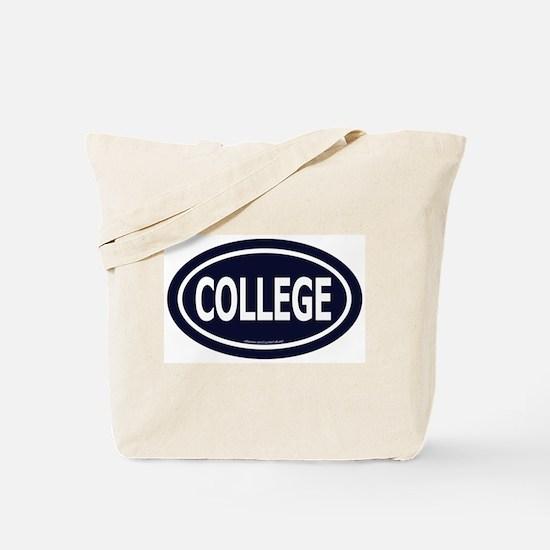 """College"" Euro - Dark Blue Tote Bag"