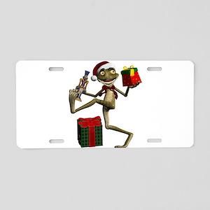 Dancing Nutcracker Santa Fr Aluminum License Plate