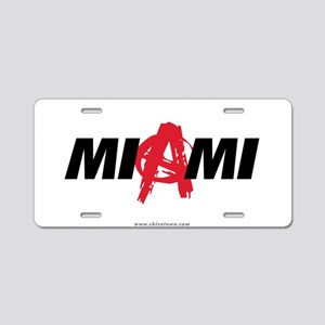 Miami Anarchy Aluminum License Plate