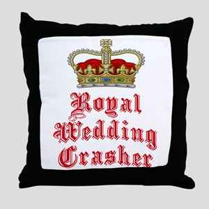Royal Wedding Crasher Throw Pillow