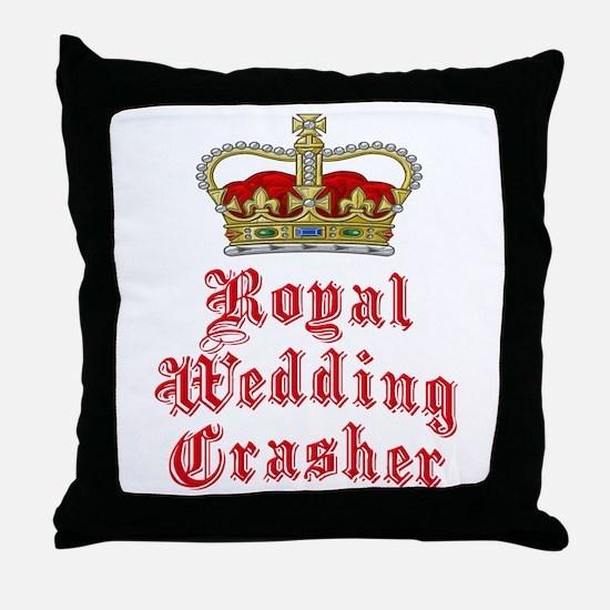 Royal Wedding Crasher Throw Pillow