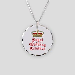 Royal Wedding Crasher Necklace Circle Charm
